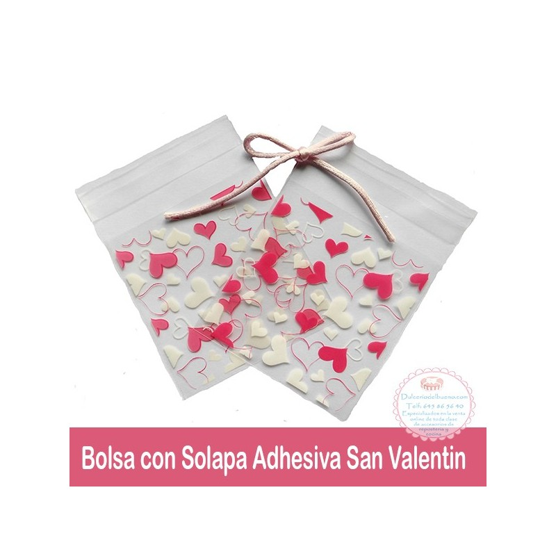 Bolsa con Solapa Adhesiva San Valentin