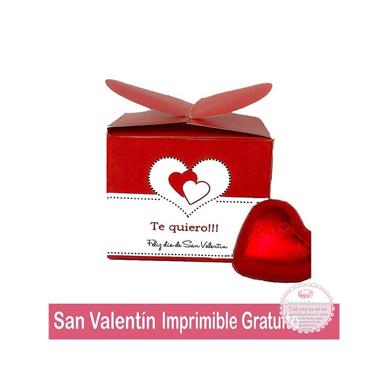 Caja Corazón Imprimible Gratuito San Valentín