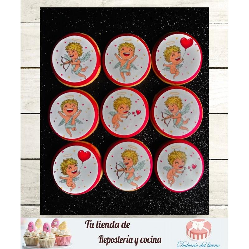 Papel de azúcar San Valentín (Cupido)