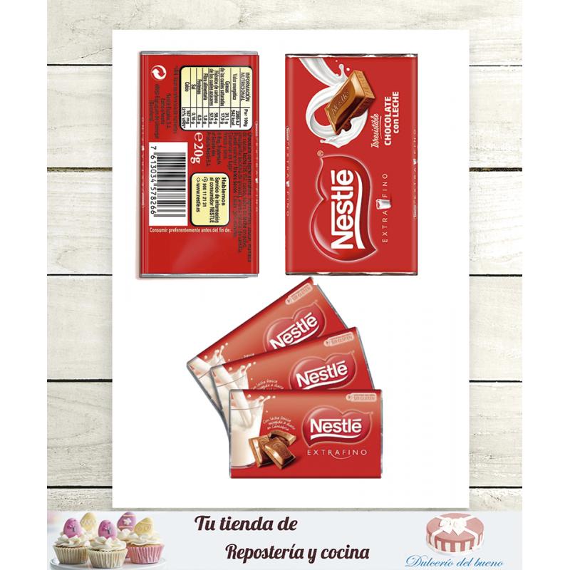 Chocolatina Extrafina 20 GR (Se venden por unidad)