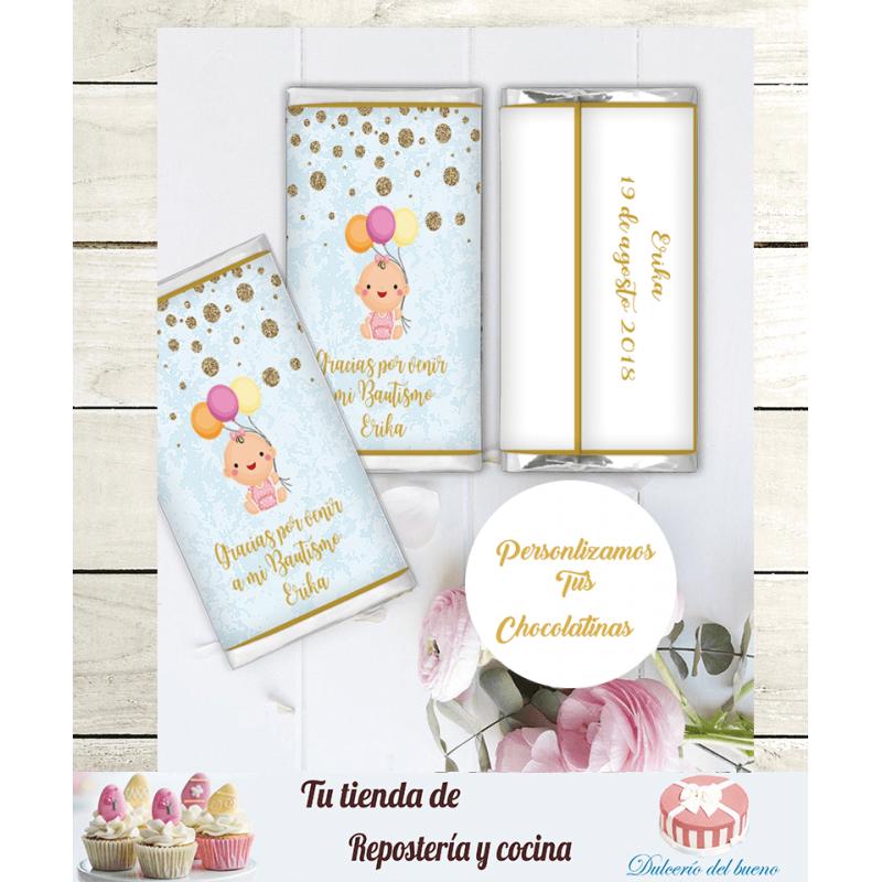 Chocolatinas Nestlé  Personalizdas  Bautizo Erika