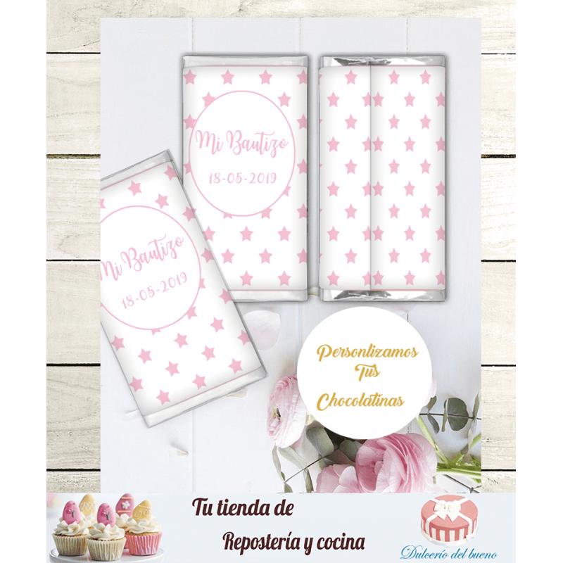 Chocolatinas Nestlé Personalizdas Bautizo  Naia