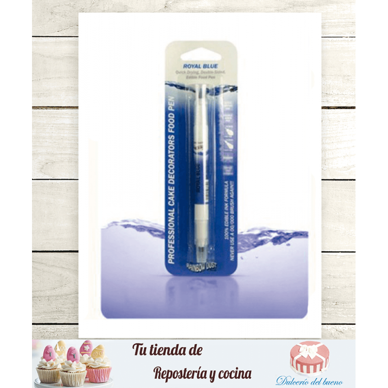 Rotulador comestible azul real doble punta RD