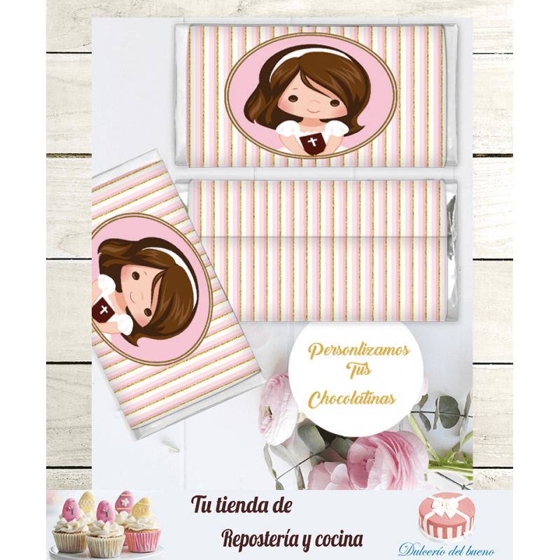 Chocolatinas Nestlé  Personalizdas Comunión Lucía