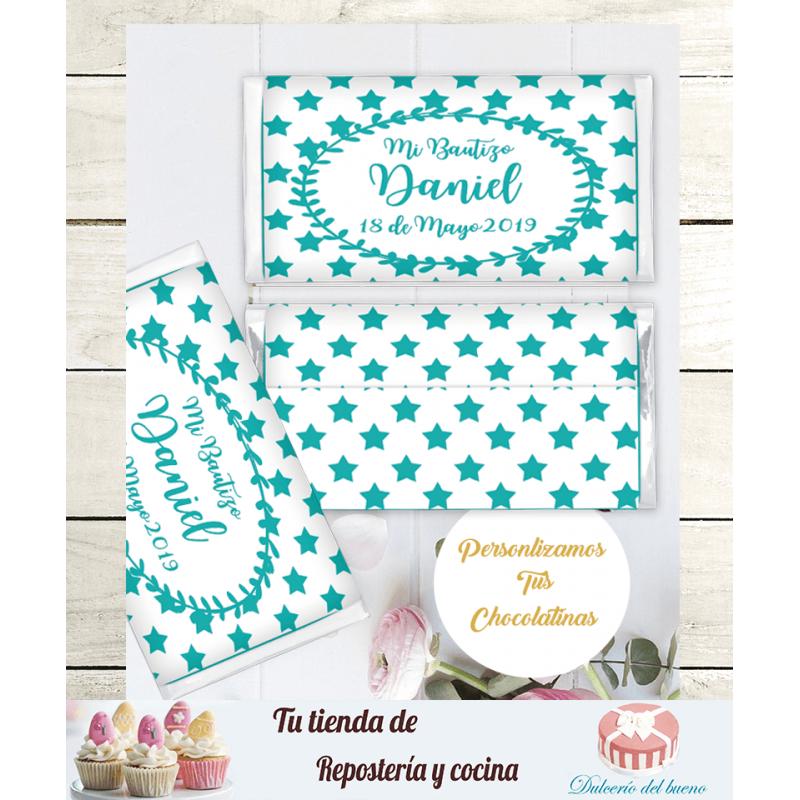 Chocolatinas Nestlé Bautizo Personalizdas (Daniel)