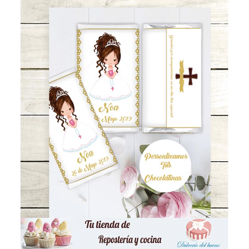 Chocolatinas Nestlé Comunión Personalizdas ( Noa)