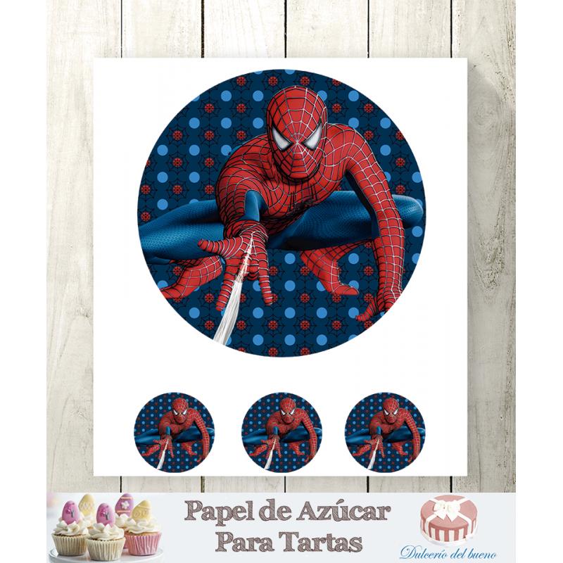 Papel de Azúcar Spiderman Para Tartas
