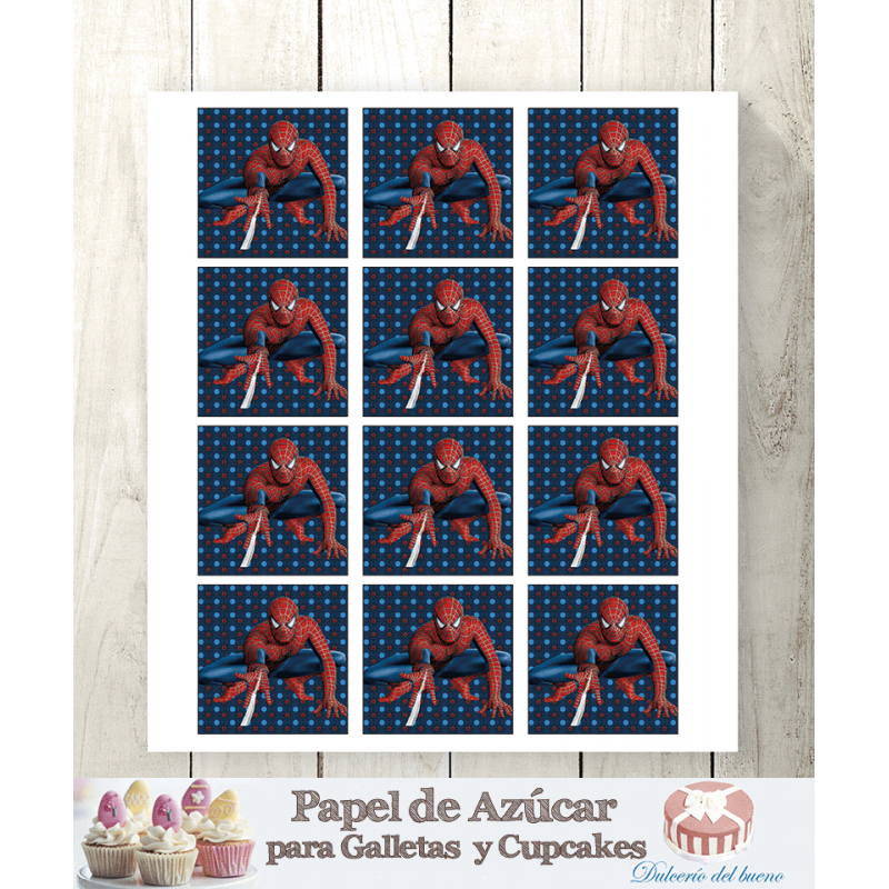 Papel de Azúcar Para Galletas Spiderman