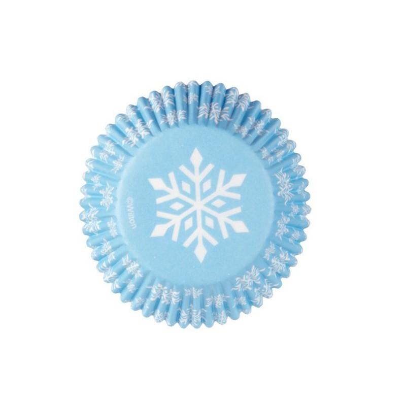 Cápsulas copos de nieve azules Wilton