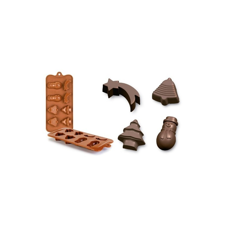 Molde bombón chocolates Navidad Ibili